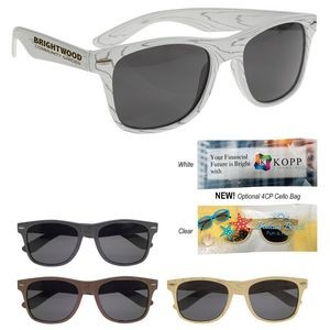 Designer Collection Woodtone Malibu Sunglasses